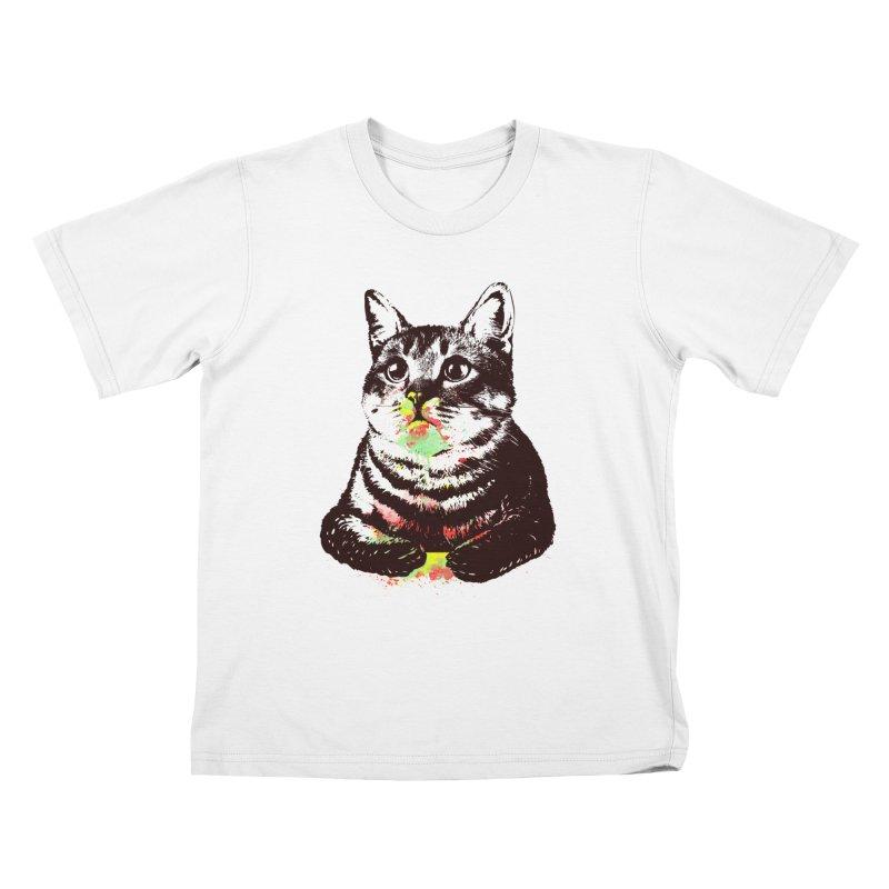 Cat_loves_watercolor Kids T-shirt by gorix's Artist Shop