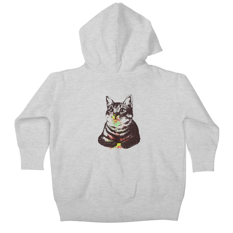 Cat_loves_watercolor Kids Baby Zip-Up Hoody by gorix's Artist Shop