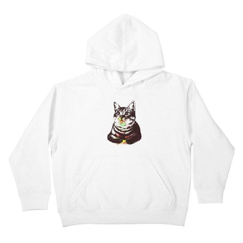 Cat_loves_watercolor Kids Pullover Hoody by gorix's Artist Shop
