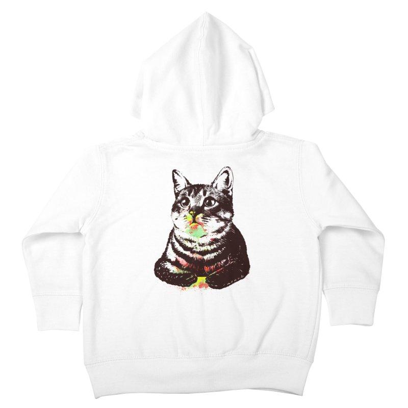 Cat_loves_watercolor Kids Toddler Zip-Up Hoody by gorix's Artist Shop