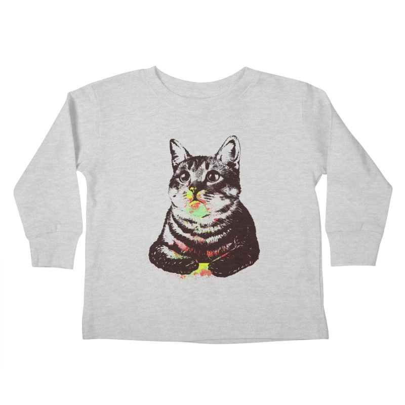 Cat_loves_watercolor Kids Toddler Longsleeve T-Shirt by gorix's Artist Shop