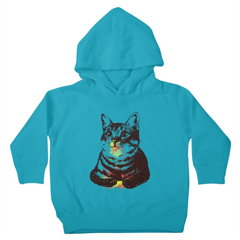 Cat_loves_watercolor Kids Toddler Pullover Hoody by gorix's Artist Shop