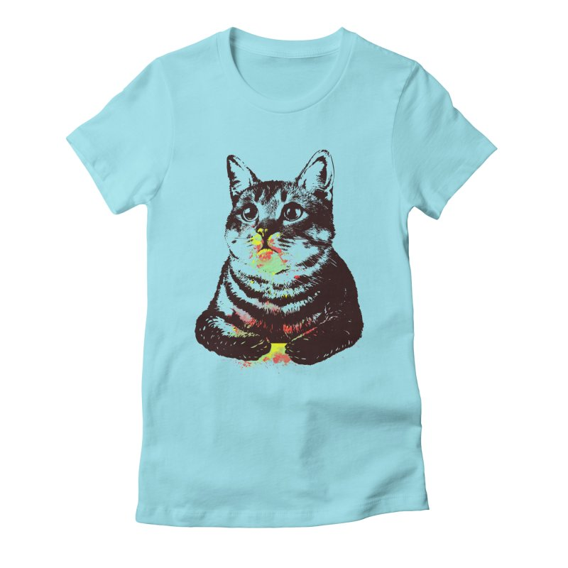 Cat_loves_watercolor Women's Fitted T-Shirt by gorix's Artist Shop