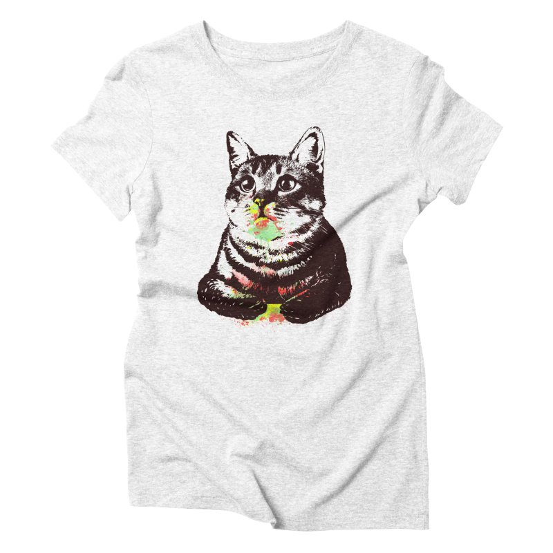 Cat_loves_watercolor Women's Triblend T-shirt by gorix's Artist Shop