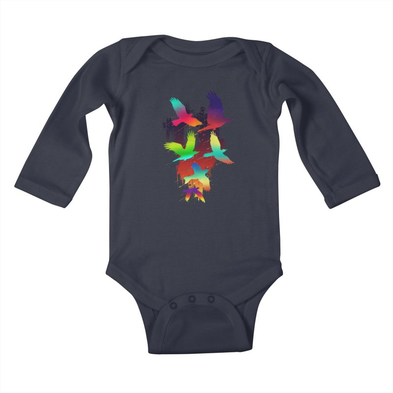 Color_migration Kids Baby Longsleeve Bodysuit by gorix's Artist Shop