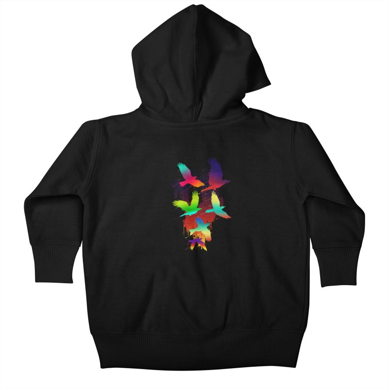 Color_migration Kids Baby Zip-Up Hoody by gorix's Artist Shop