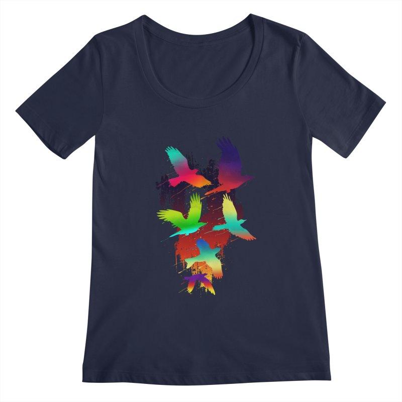 Color_migration Women's Scoopneck by gorix's Artist Shop