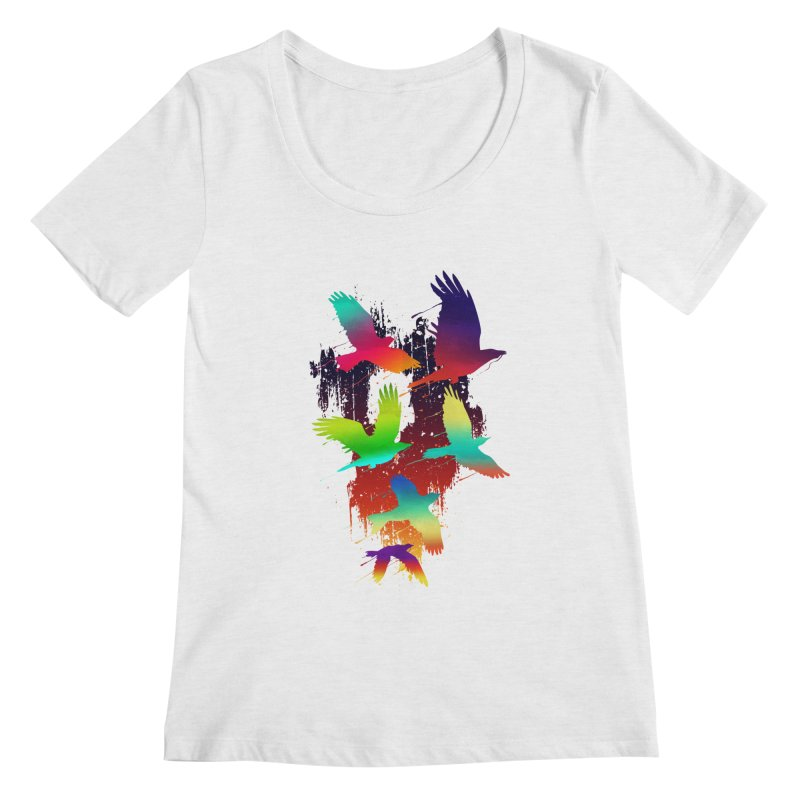 Color_migration Women's Scoopneck by gorix's Artist Shop