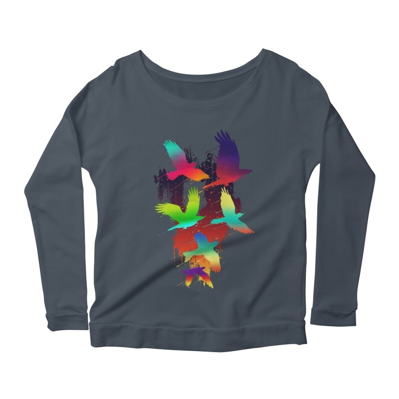 Color_migration Women's Longsleeve Scoopneck  by gorix's Artist Shop