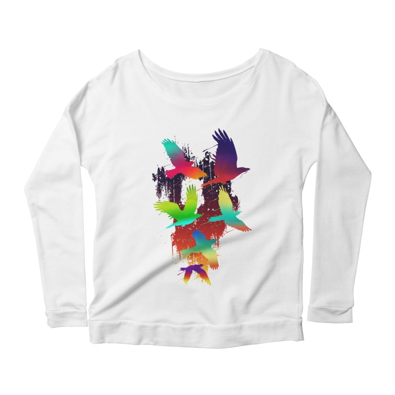 Color_migration Women's Longsleeve Scoopneck  by gorix's Artist Shop