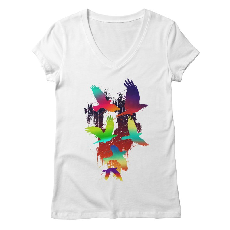 Color_migration Women's V-Neck by gorix's Artist Shop