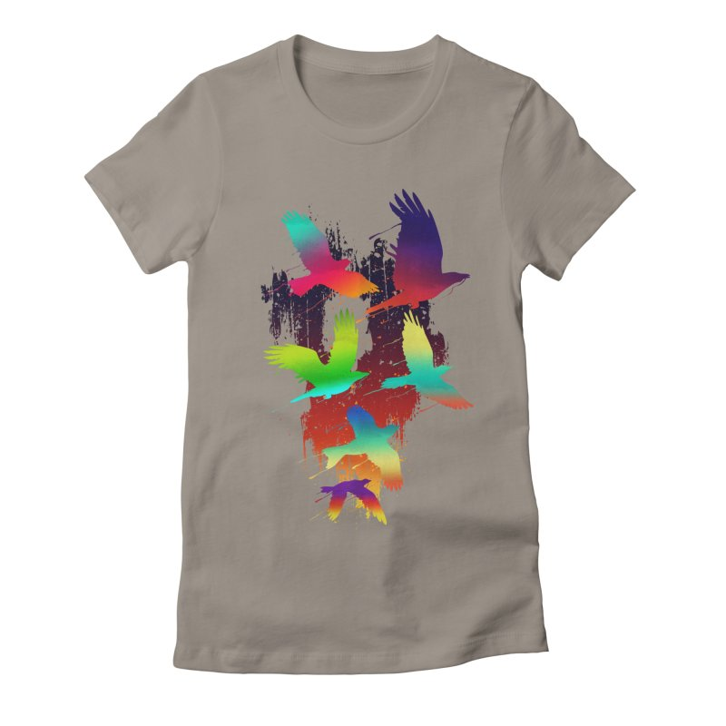 Color_migration Women's Fitted T-Shirt by gorix's Artist Shop