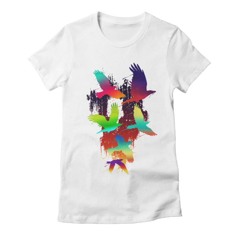 Color_migration Women's Fitted T-Shirt by gorix's Artist Shop