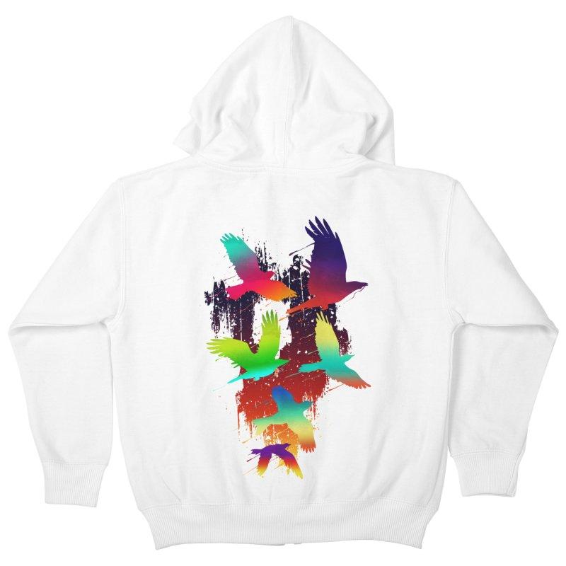 Color_migration Kids Zip-Up Hoody by gorix's Artist Shop