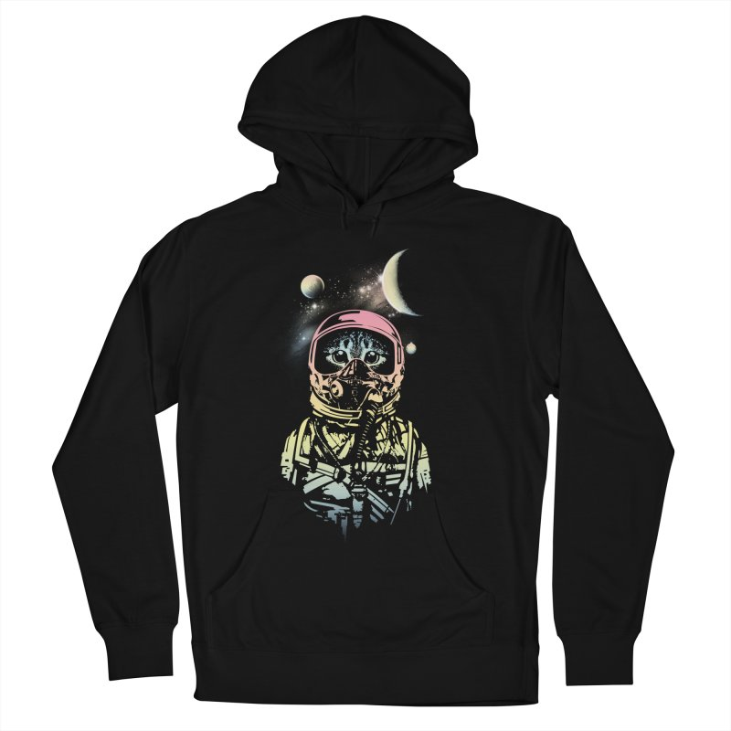 Cat in Space Men's Pullover Hoody by gorix's Artist Shop