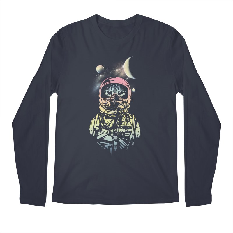 Cat in Space Men's Longsleeve T-Shirt by gorix's Artist Shop