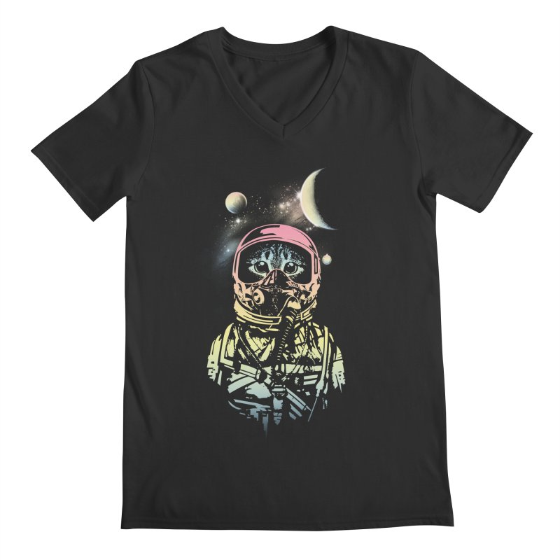 Cat in Space Men's V-Neck by gorix's Artist Shop