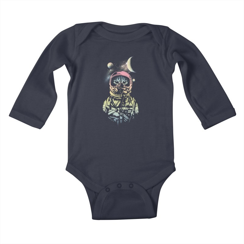 Cat in Space Kids Baby Longsleeve Bodysuit by gorix's Artist Shop