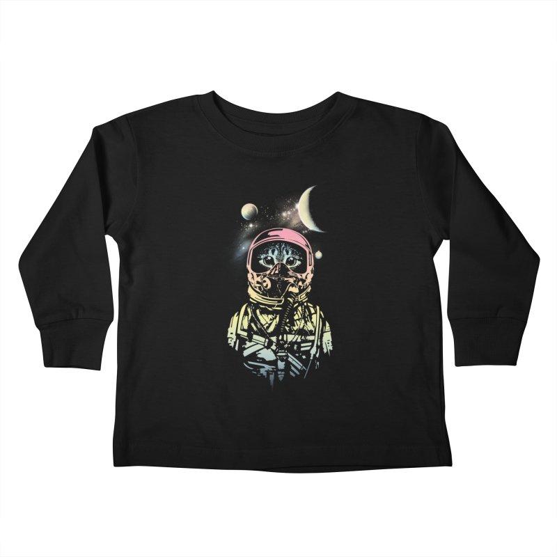 Cat in Space Kids Toddler Longsleeve T-Shirt by gorix's Artist Shop