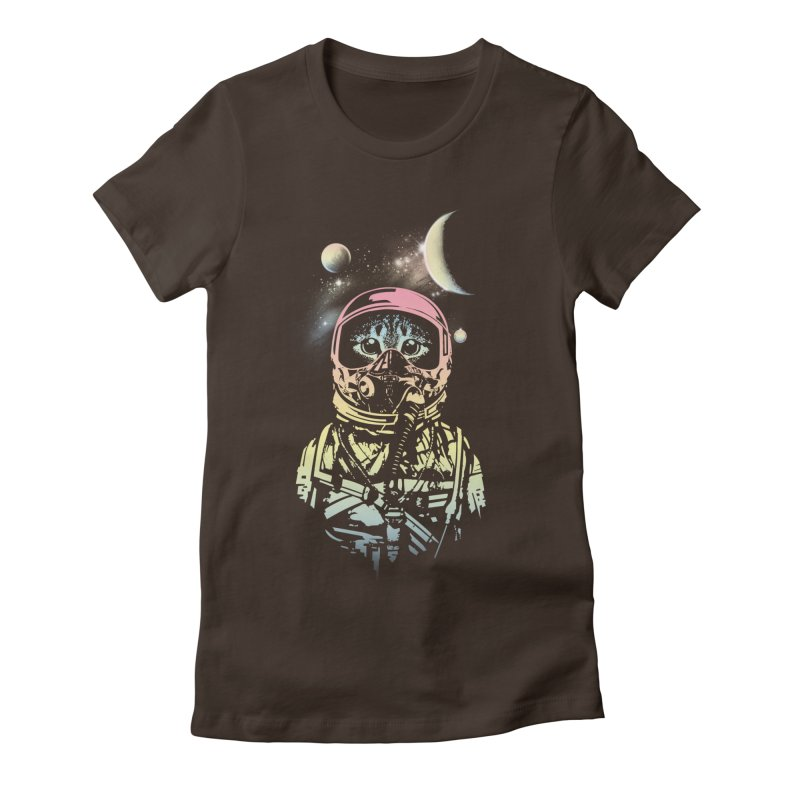 Cat in Space Women's Fitted T-Shirt by gorix's Artist Shop