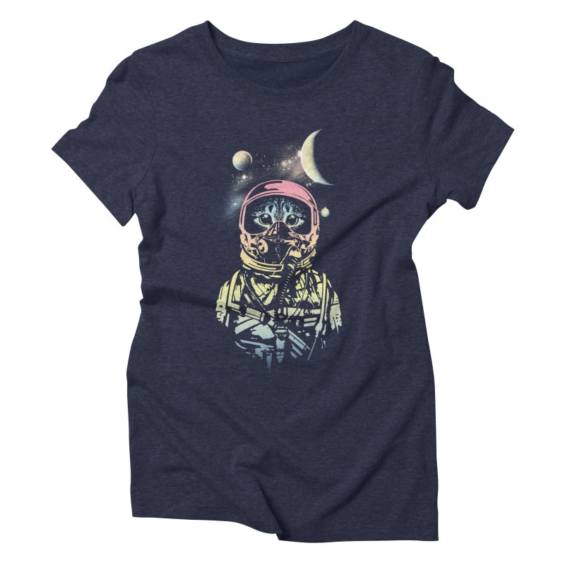 Cat in Space Women's Triblend T-shirt by gorix's Artist Shop
