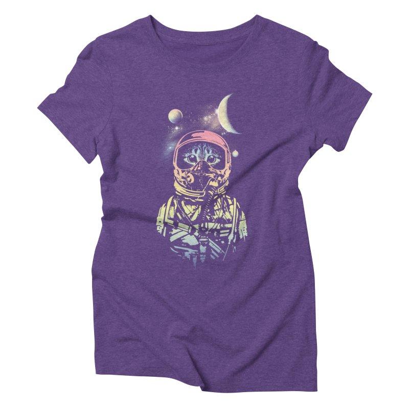 Cat in Space Women's Triblend T-Shirt by gorix's Artist Shop