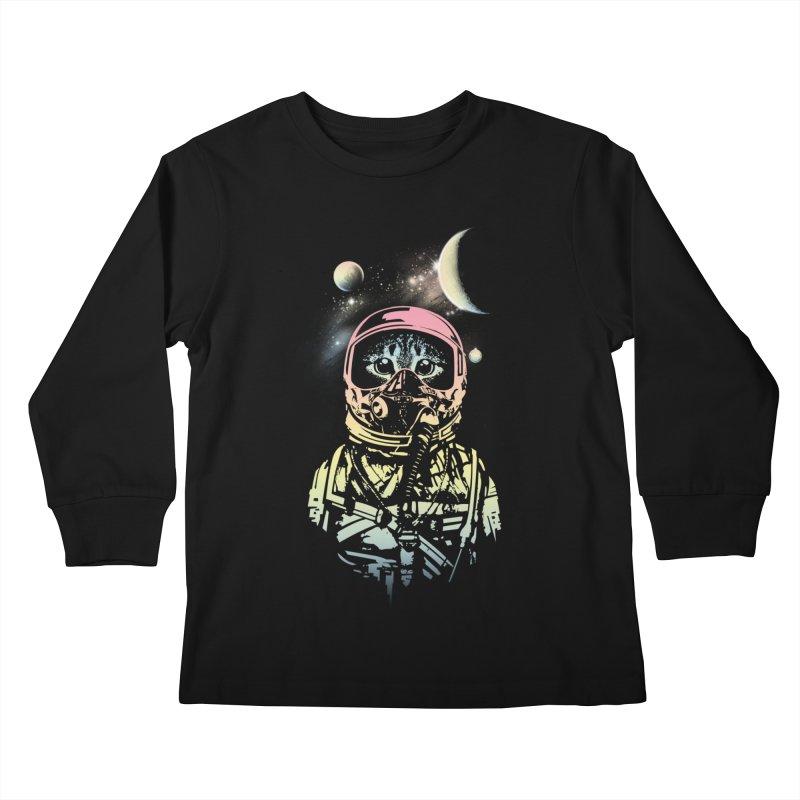 Cat in Space Kids Longsleeve T-Shirt by gorix's Artist Shop