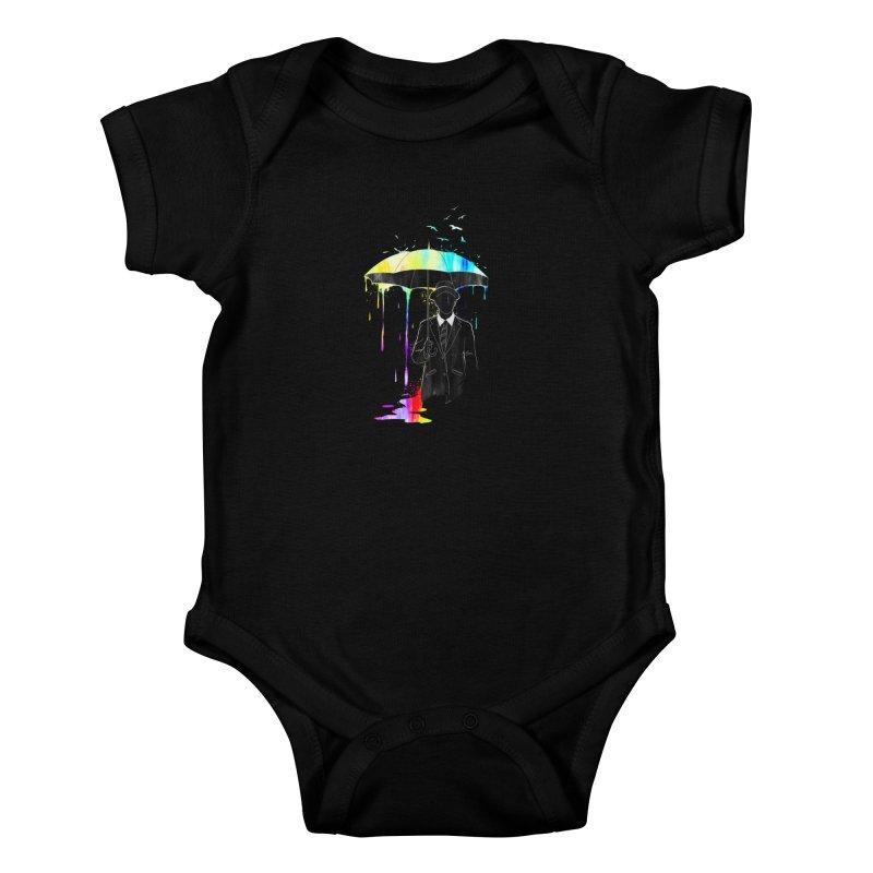 Under the Rain Kids Baby Bodysuit by gorix's Artist Shop
