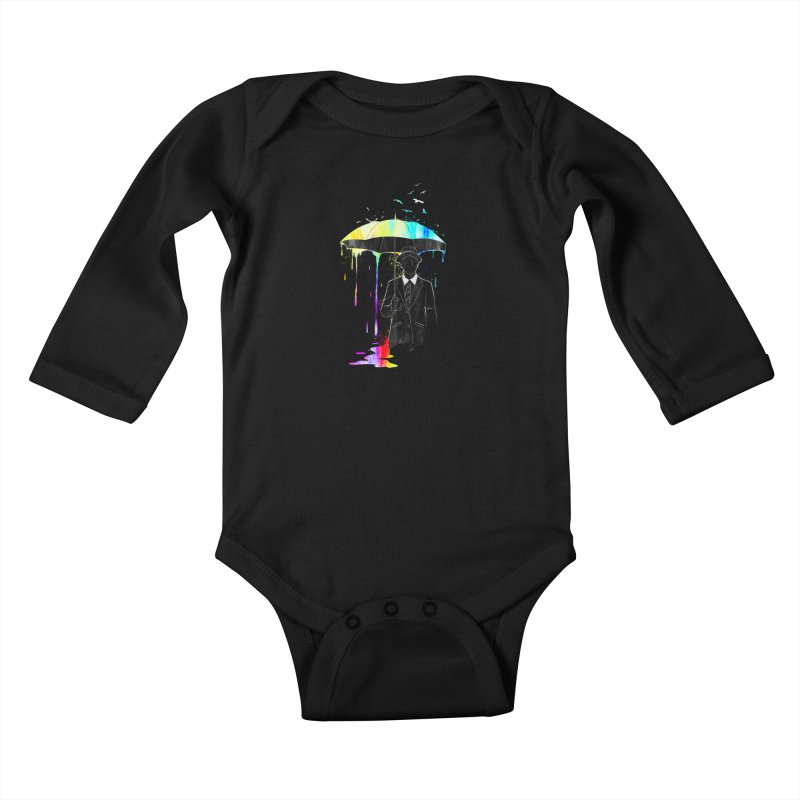 Under the Rain Kids Baby Longsleeve Bodysuit by gorix's Artist Shop