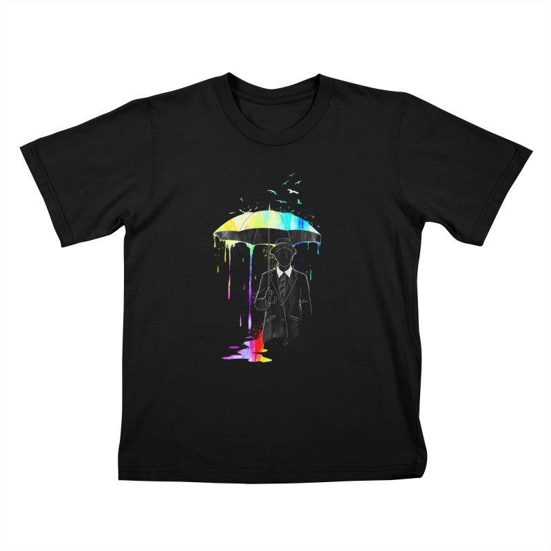 Under the Rain Kids T-Shirt by gorix's Artist Shop