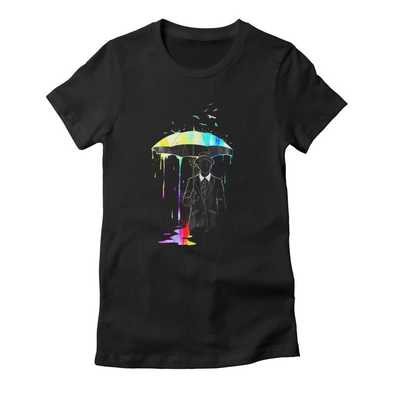 Under the Rain Women's Fitted T-Shirt by gorix's Artist Shop