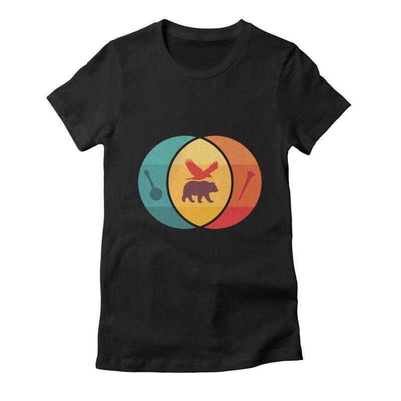 Bear & Bird Women's Fitted T-Shirt by gothlyfe's Artist Shop
