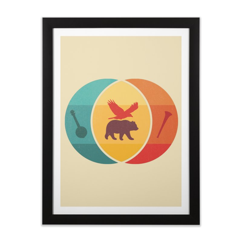Bear & Bird Home Framed Fine Art Print by gothlyfe's Artist Shop