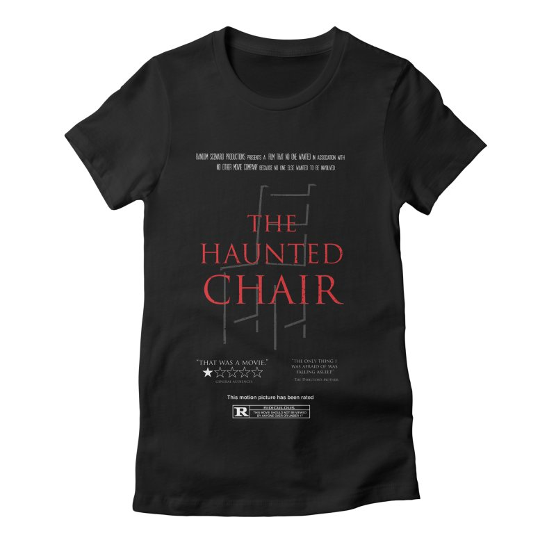 The Haunted Chair Women's Fitted T-Shirt by gothlyfe's Artist Shop