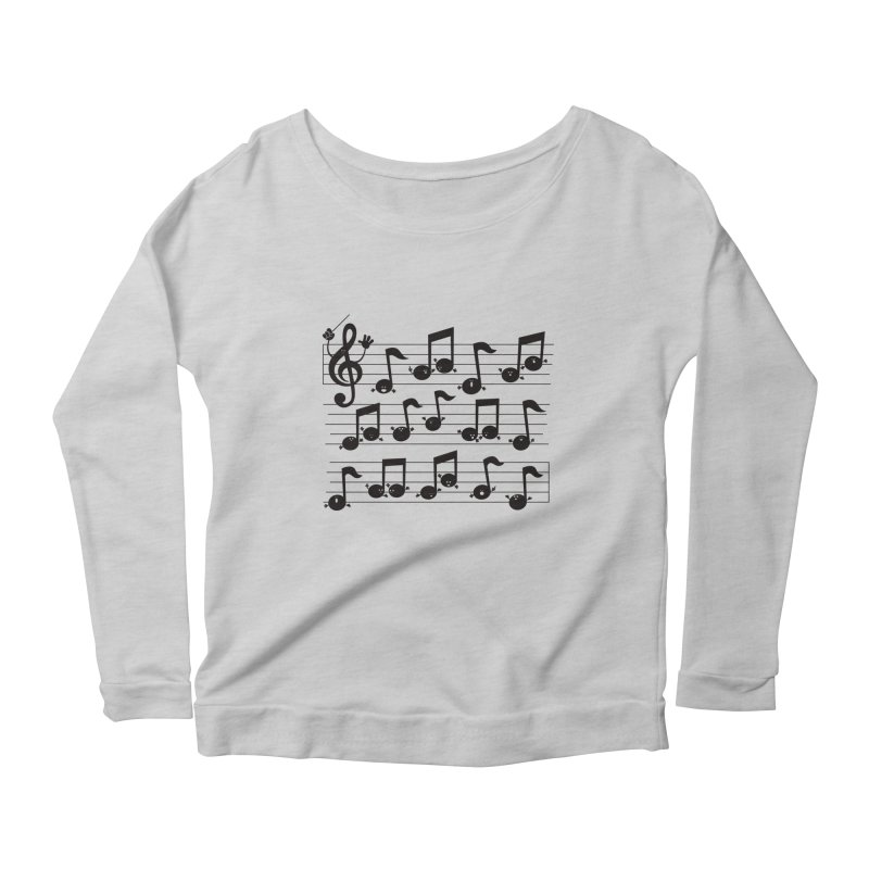 All Together Now Women's Longsleeve Scoopneck  by
