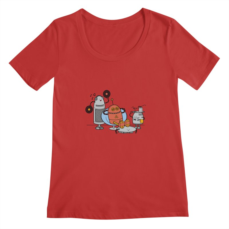 A Comfortable Future Women's Scoopneck by