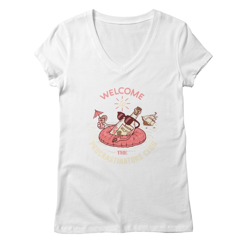 HELP! Women's Regular V-Neck by gotoup's Artist Shop