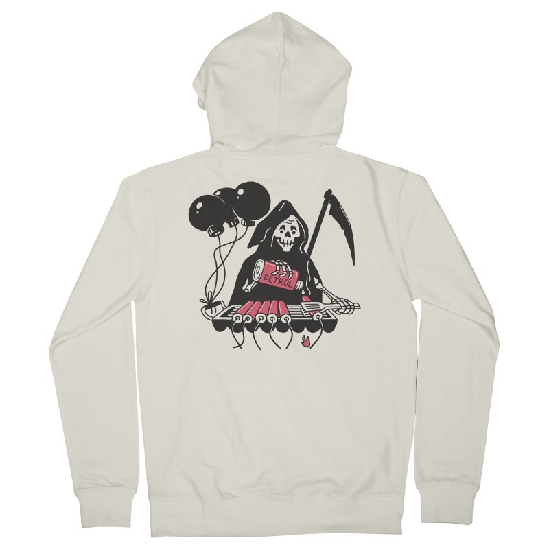 HOT BOMB Women's French Terry Zip-Up Hoody by gotoup's Artist Shop