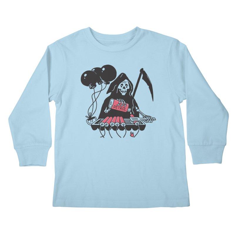 HOT BOMB Kids Longsleeve T-Shirt by gotoup's Artist Shop