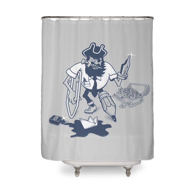 YO-HO-HO Home Shower Curtain by gotoup's Artist Shop