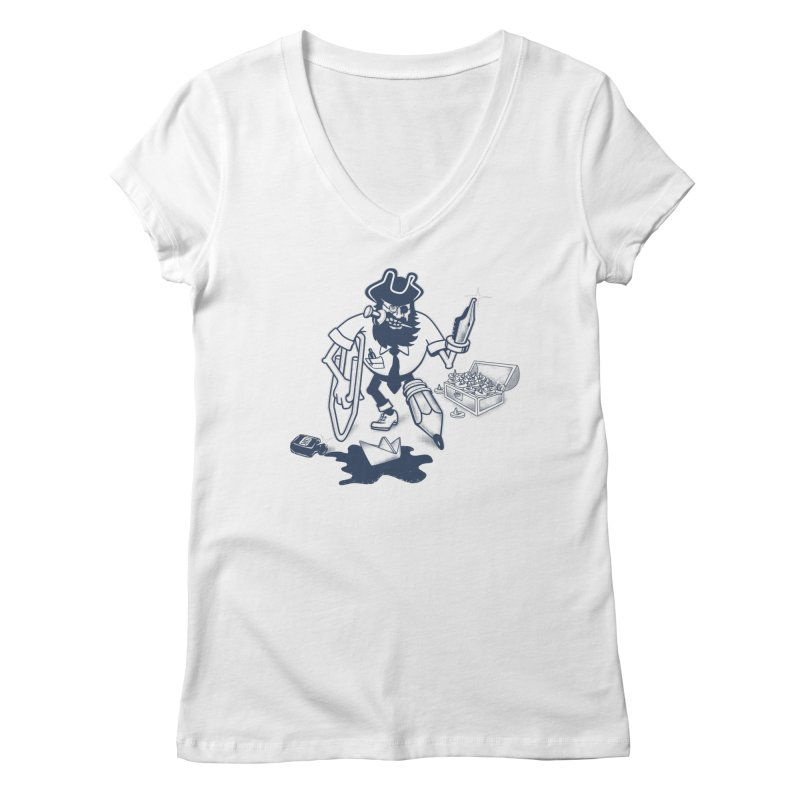 YO-HO-HO Women's Regular V-Neck by gotoup's Artist Shop