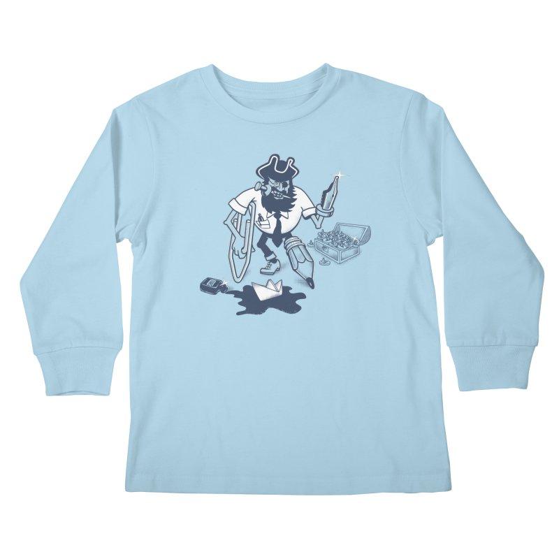 YO-HO-HO Kids Longsleeve T-Shirt by gotoup's Artist Shop