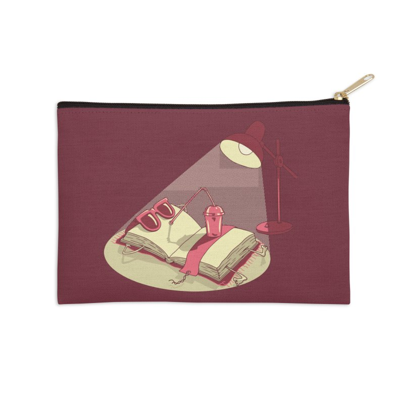 BOOK ON THE BEACH Accessories Zip Pouch by gotoup's Artist Shop