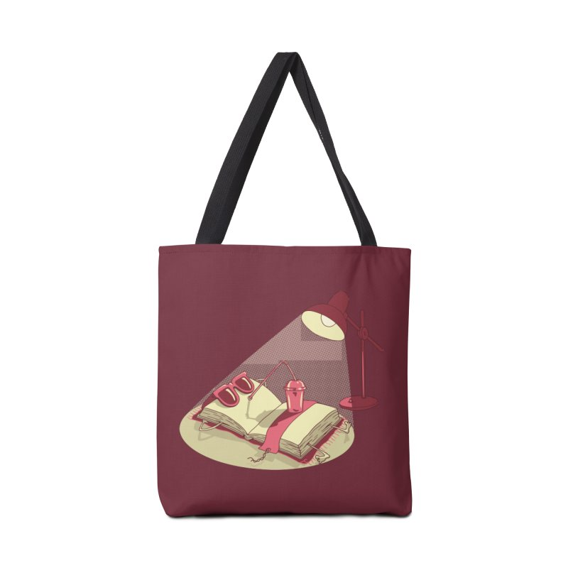 BOOK ON THE BEACH Accessories Tote Bag Bag by gotoup's Artist Shop