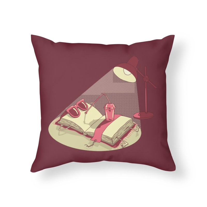 BOOK ON THE BEACH Home Throw Pillow by gotoup's Artist Shop