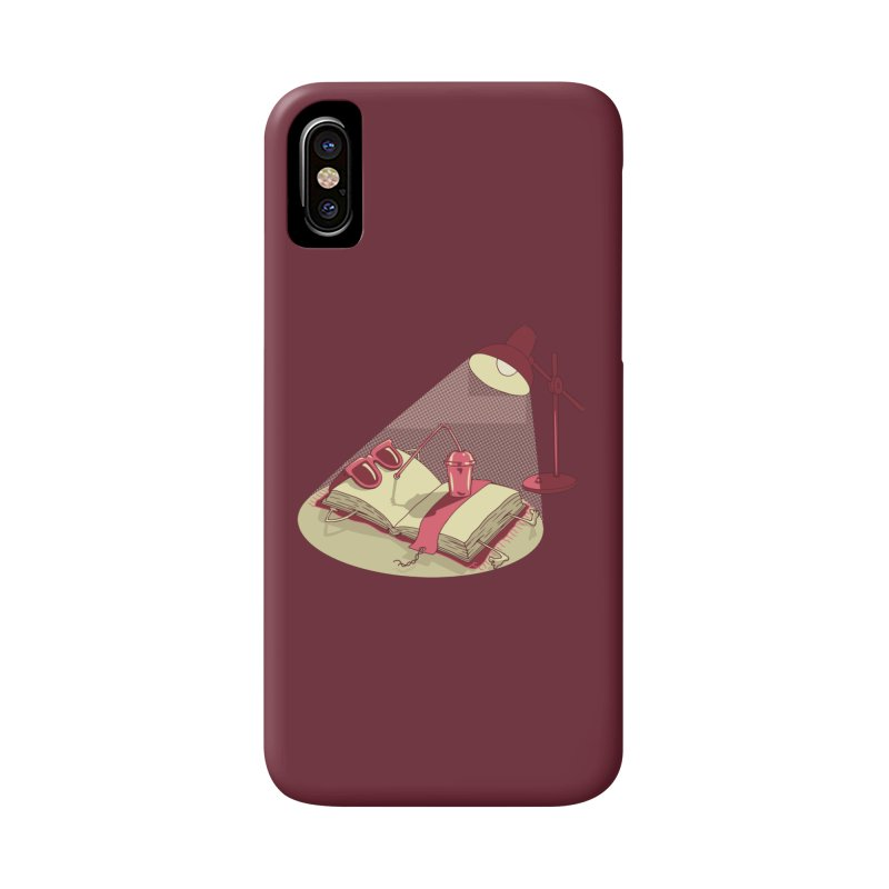 BOOK ON THE BEACH Accessories Phone Case by gotoup's Artist Shop