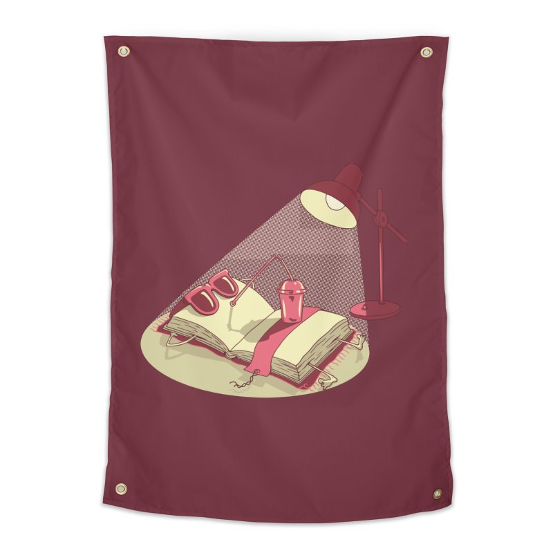 BOOK ON THE BEACH Home Tapestry by gotoup's Artist Shop