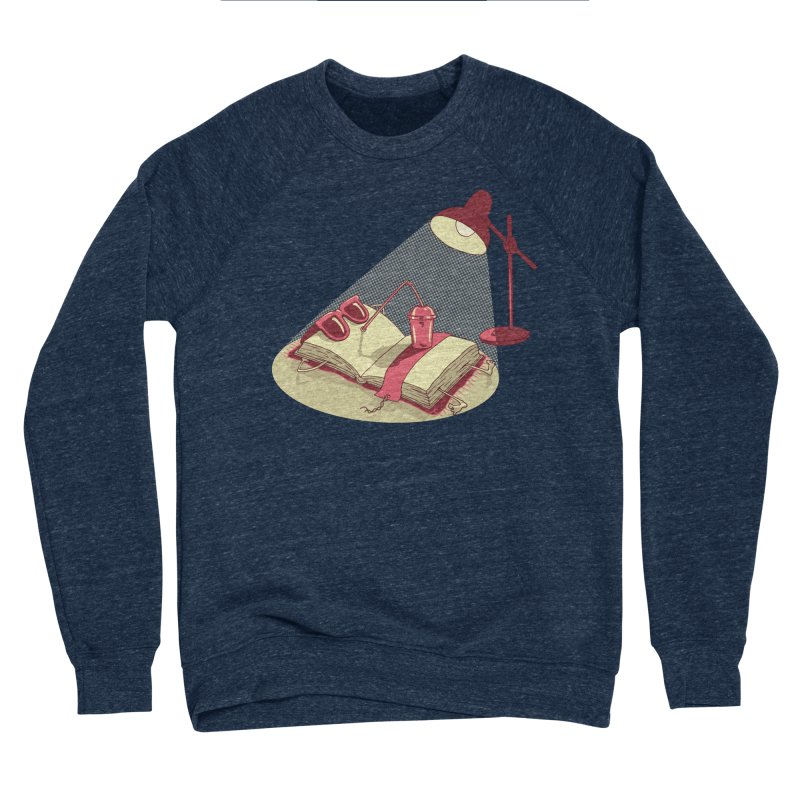 BOOK ON THE BEACH Women's Sponge Fleece Sweatshirt by gotoup's Artist Shop