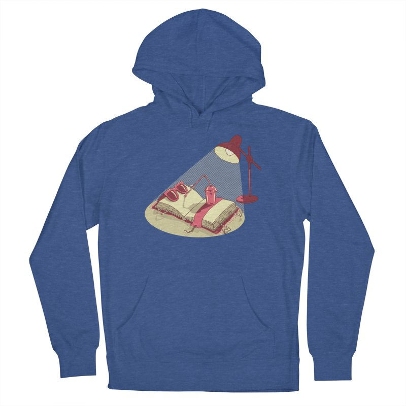 BOOK ON THE BEACH Women's French Terry Pullover Hoody by gotoup's Artist Shop
