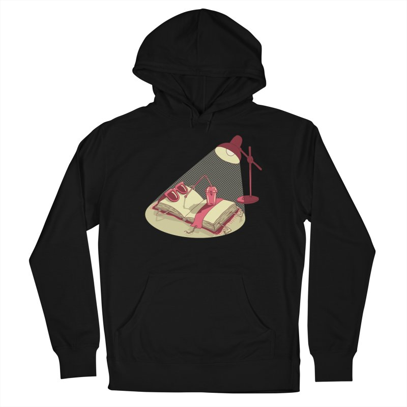 BOOK ON THE BEACH Men's French Terry Pullover Hoody by gotoup's Artist Shop